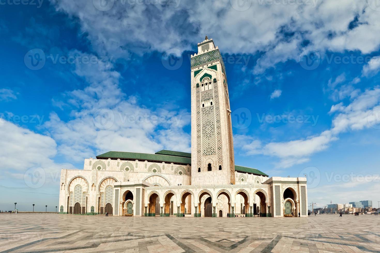 hassan ii-moskee, casablanka, marokko foto