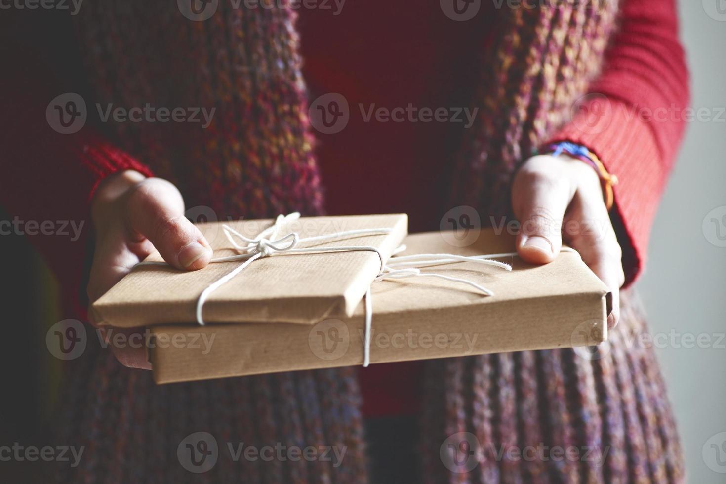winter cadeau foto