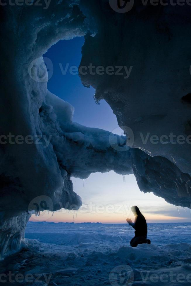 winter meer huron foto