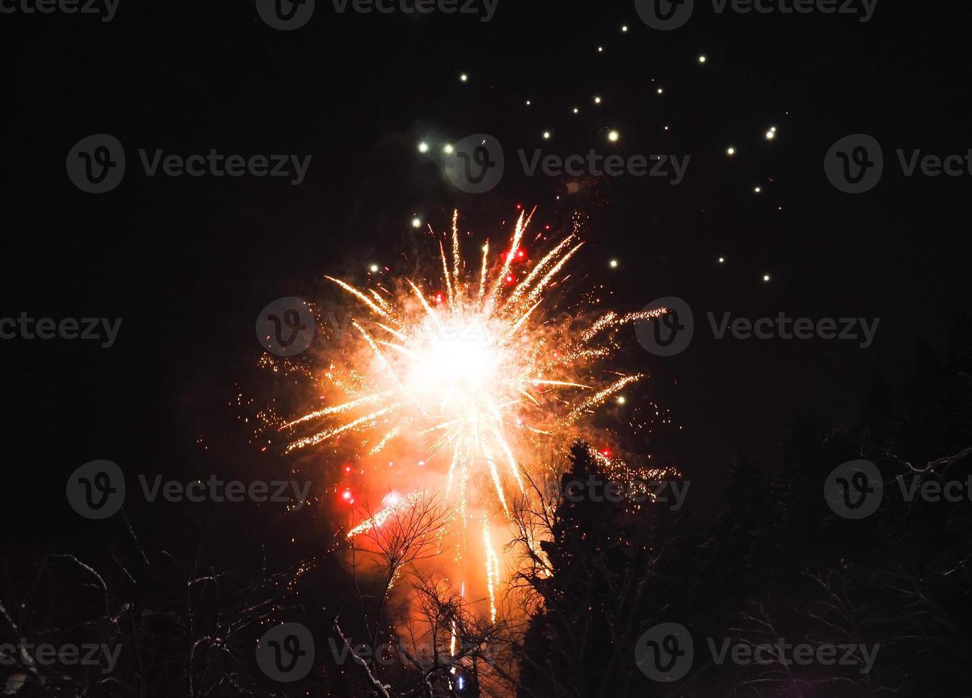 Japans vuurwerk in de winter foto
