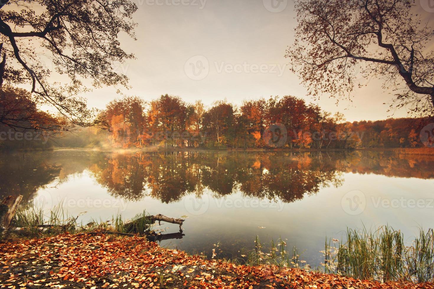 herfst meer. foto