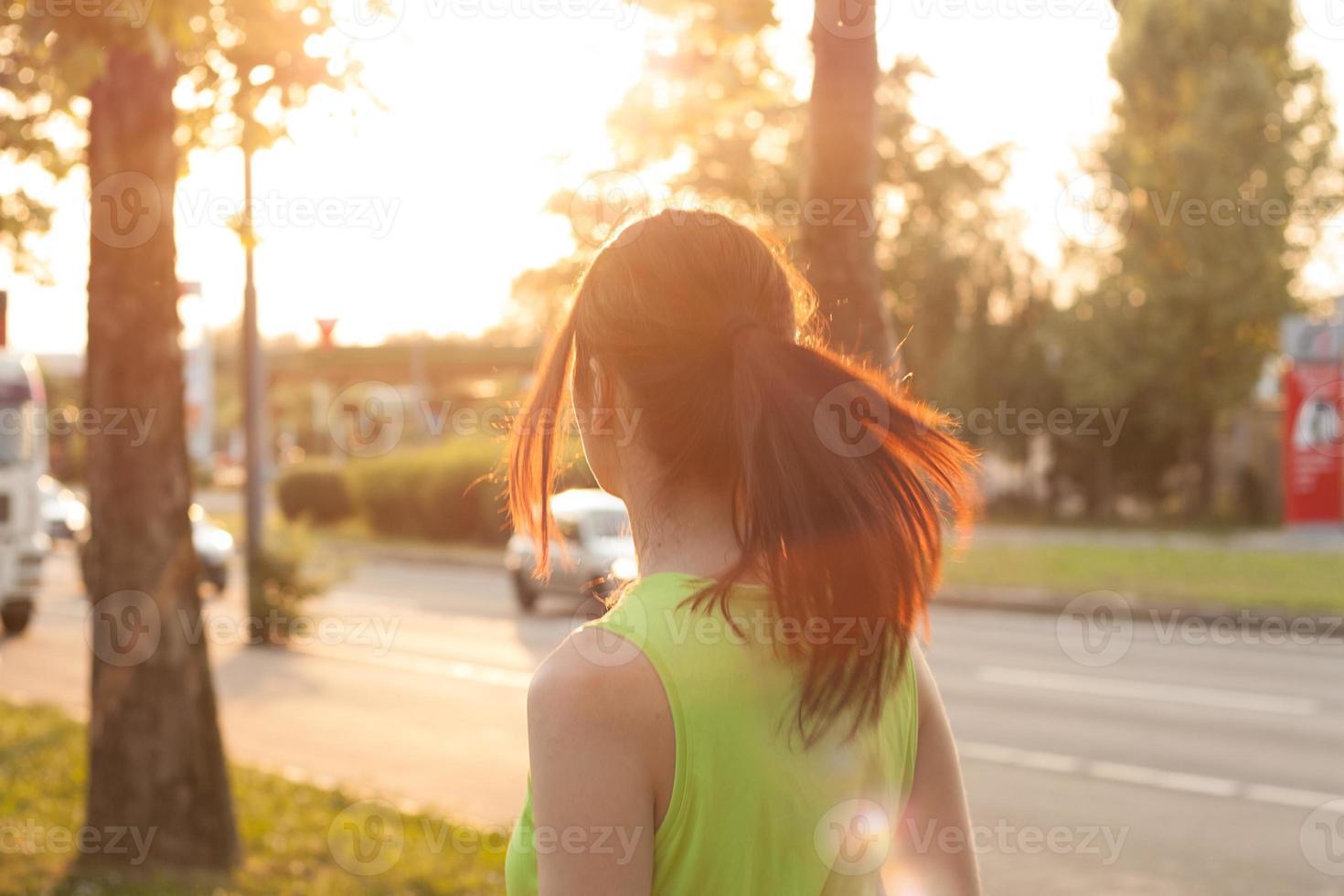lopende vrouw foto