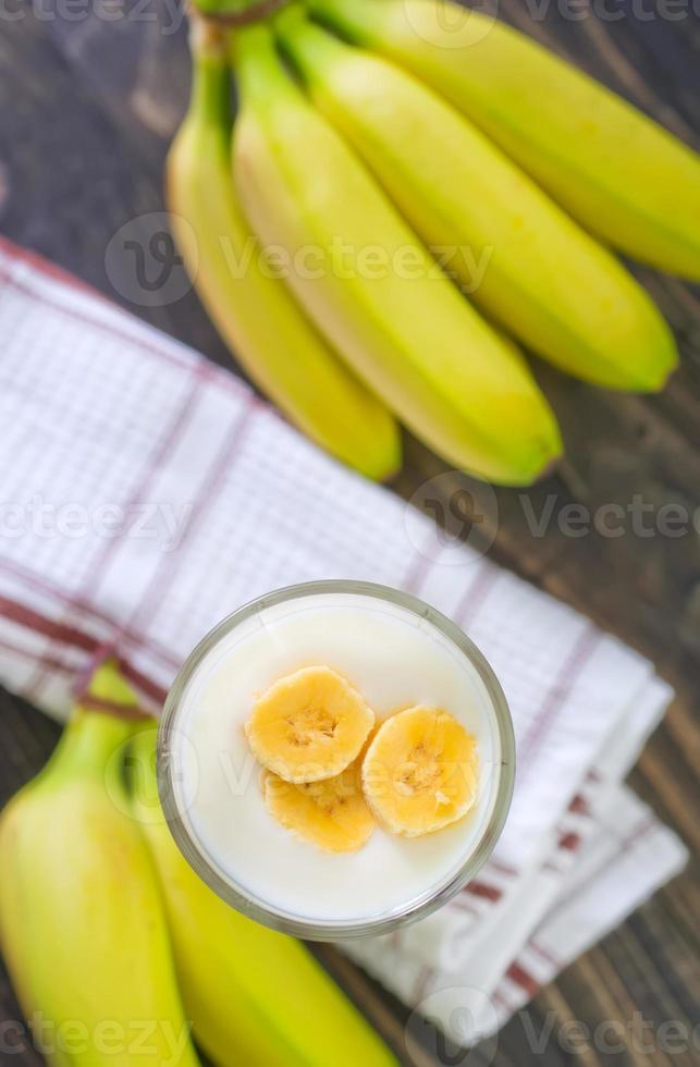 banaan yoghurt foto