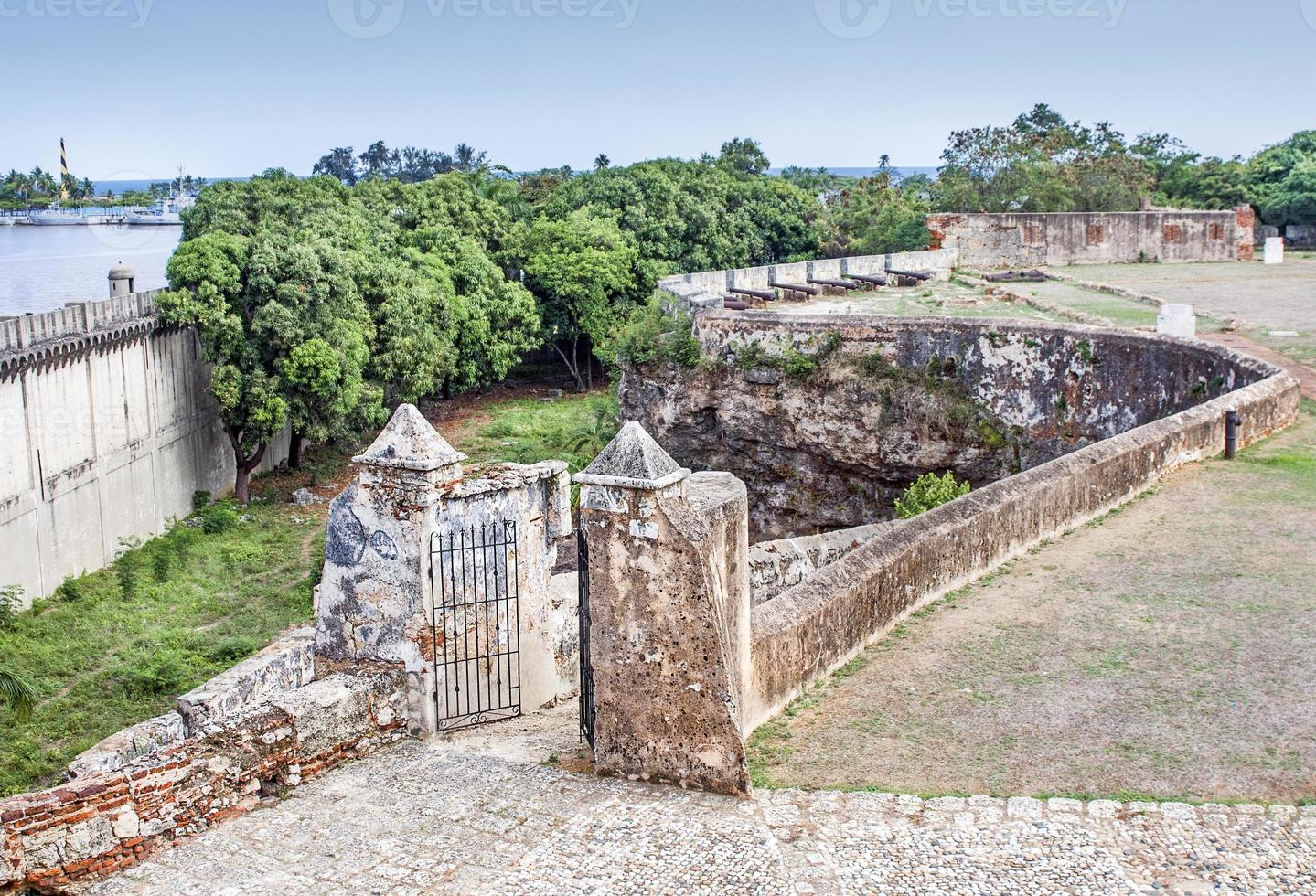 Ozama rivier en fort, Dominicaanse Republiek foto