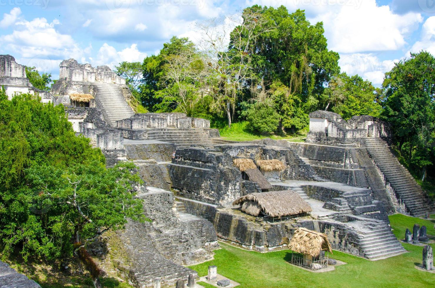 tikal ruïnes en piramides foto