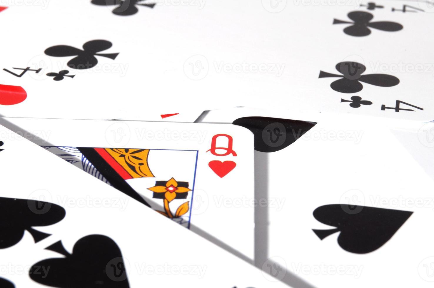 poker kaartspel foto