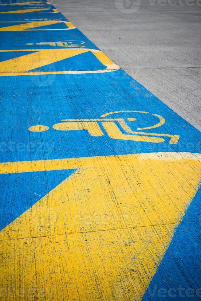 gehandicapten parkeren foto
