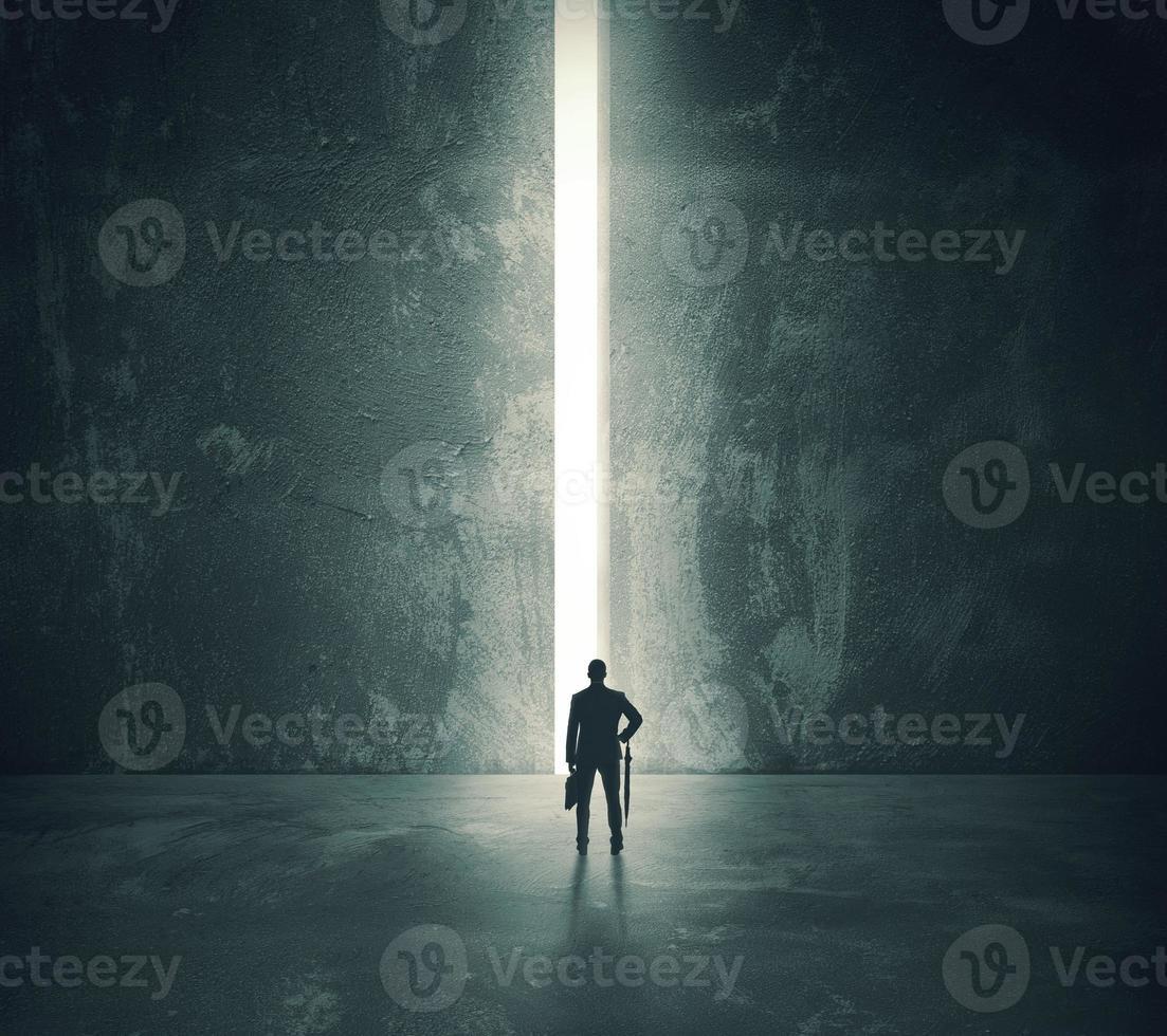 licht van de open deur foto