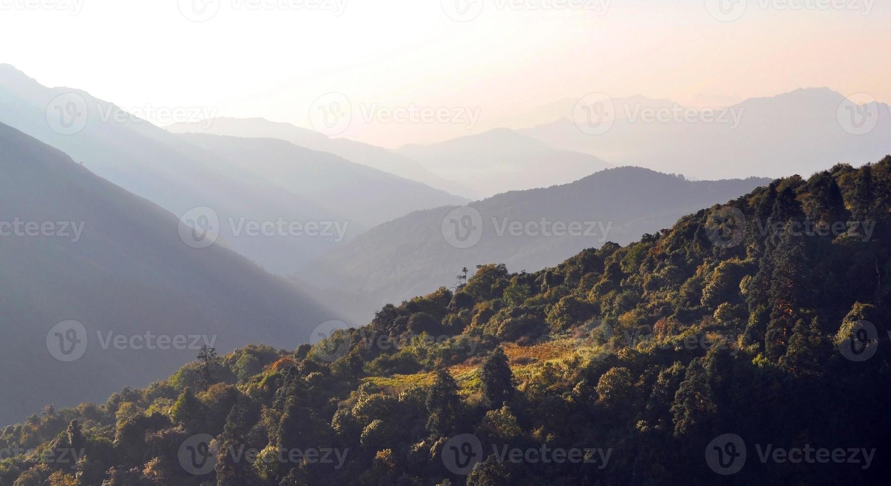annapurna-massief. Nepal. foto