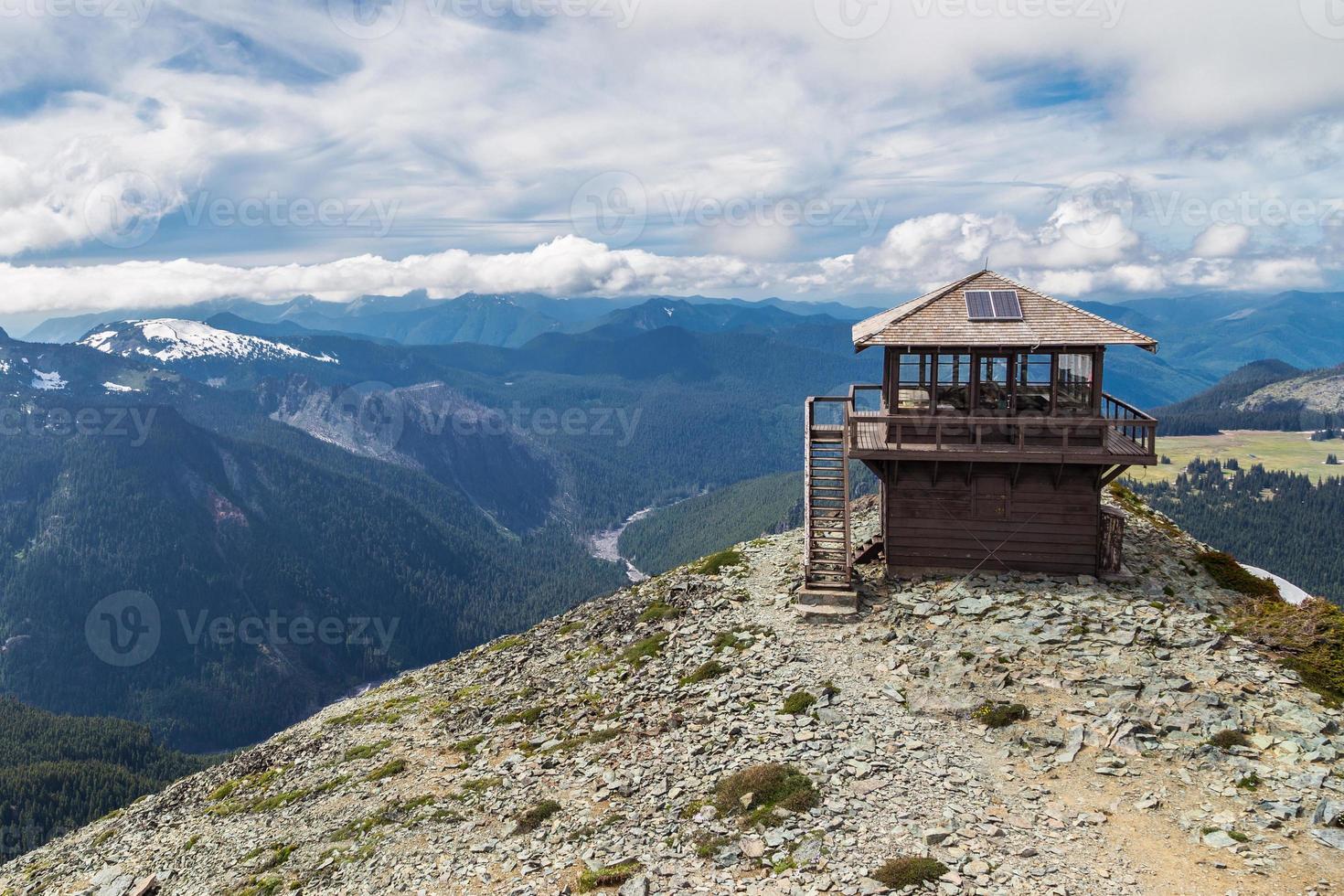 mt. uitkijkpunt Freemont in Mt. regenachtiger nationaal park foto