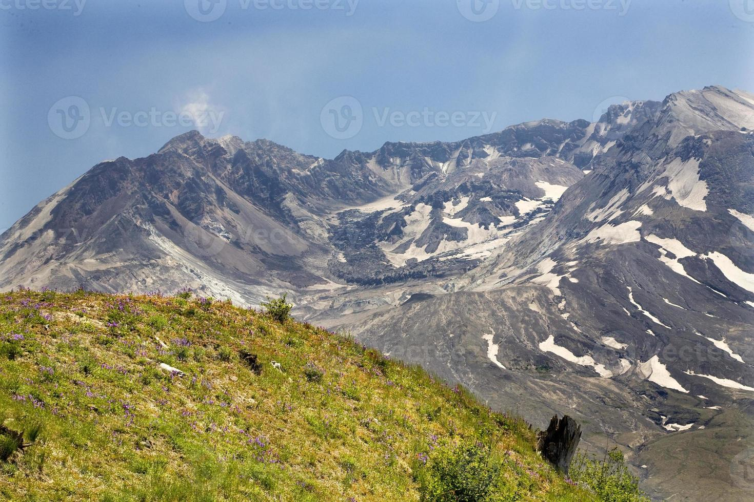 caldera lava koepel mount saint helens vulkaan nationaal park washi foto