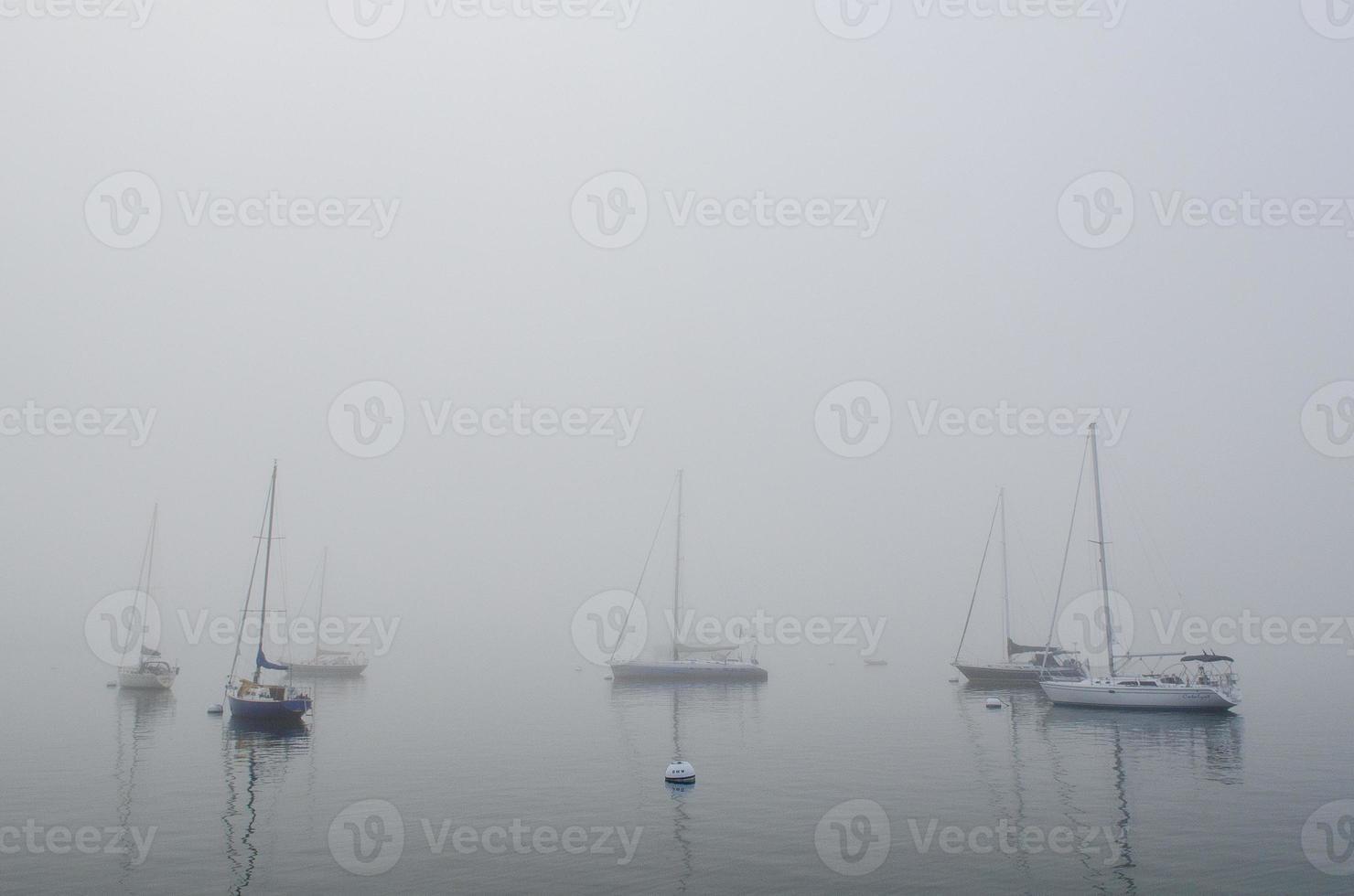 mistige haven foto