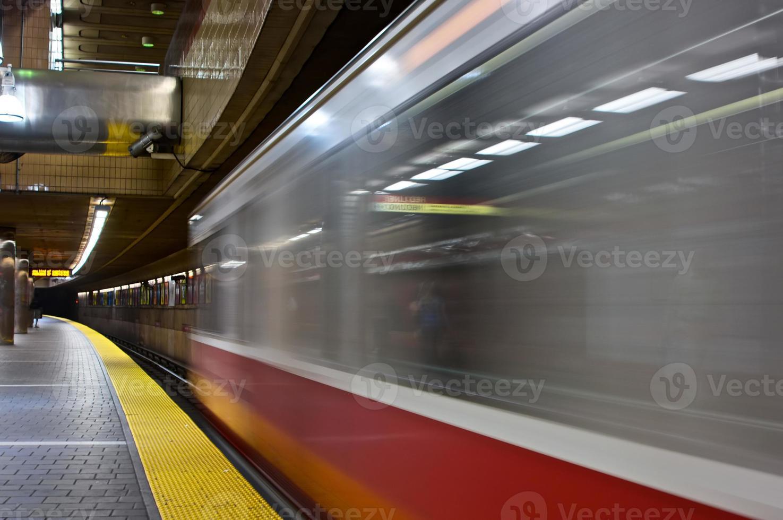 trein verlaten foto