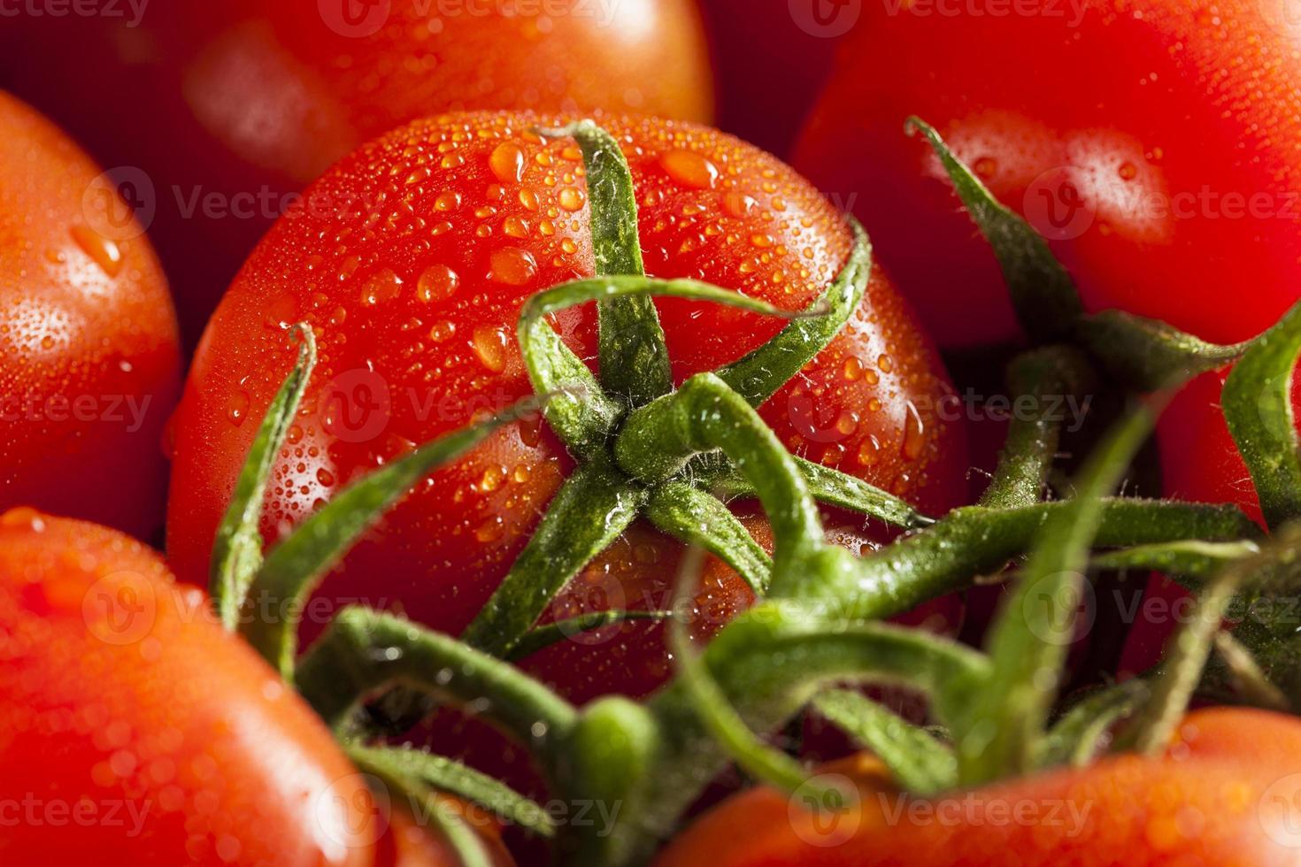 biologische rode rijpe tomaten foto