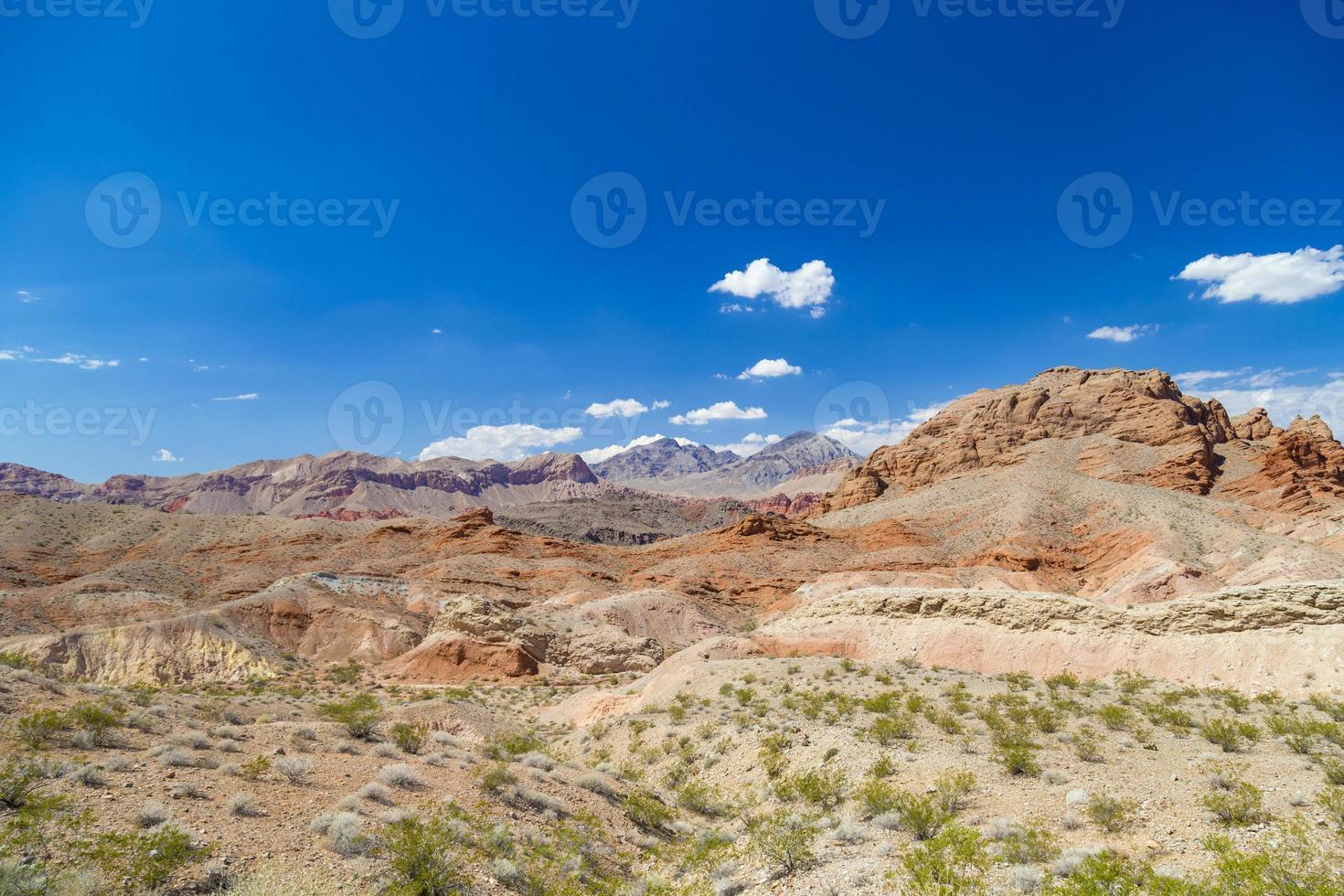 rode rotsen in de vallei van brand staat park, Nevada, Verenigde Staten foto