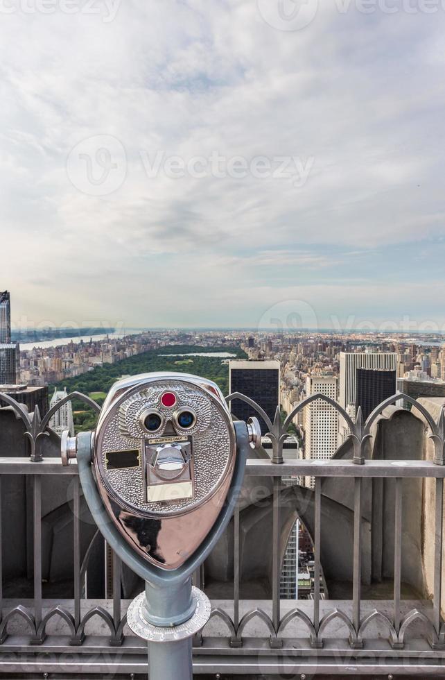 central park in new york city en telescoop foto