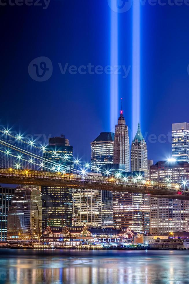 New York City met 911 lampjes foto