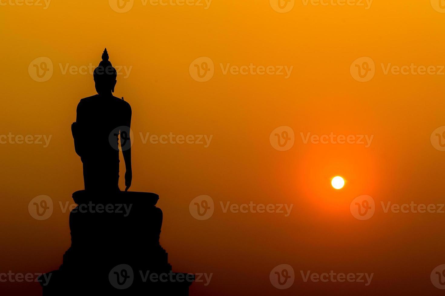 silhouet Boeddha foto