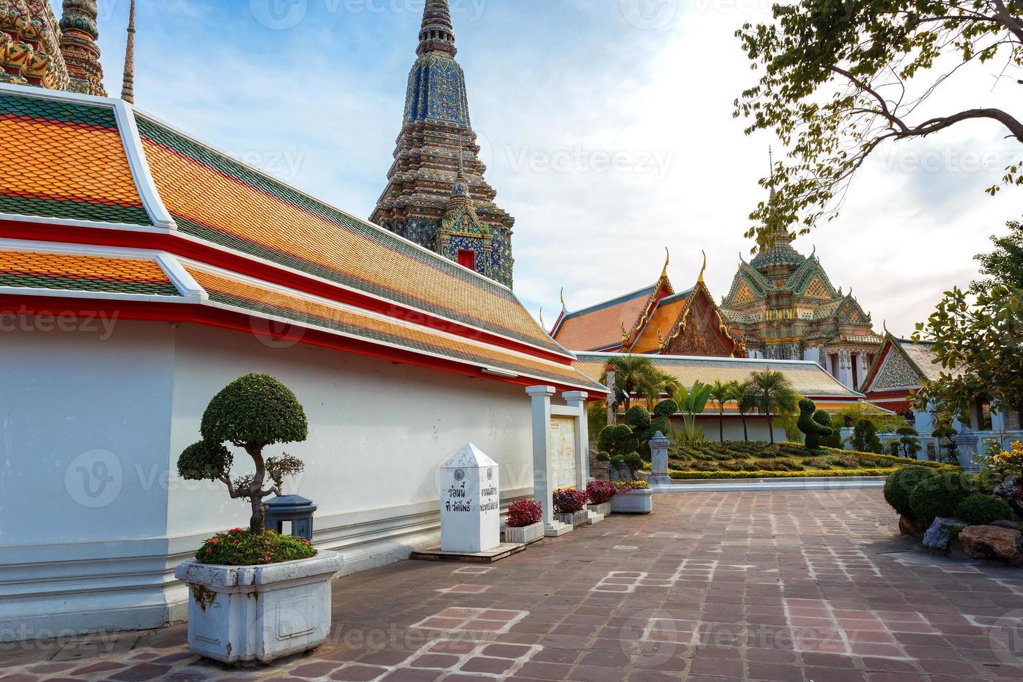 wat pho (photempel) in bangkok, thailand foto