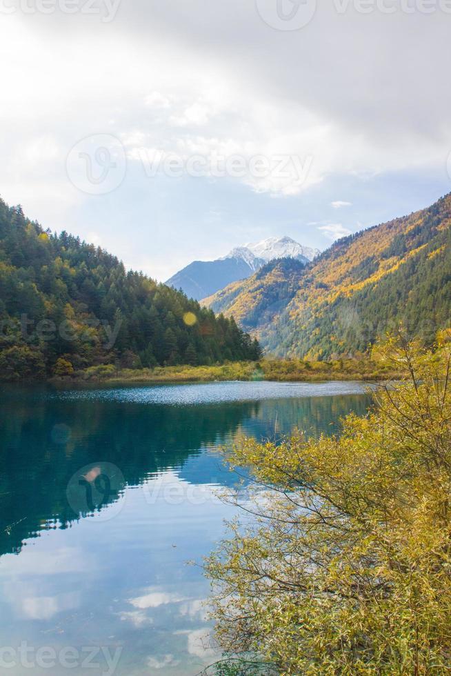 jiuzhaigou nationaal park in China foto