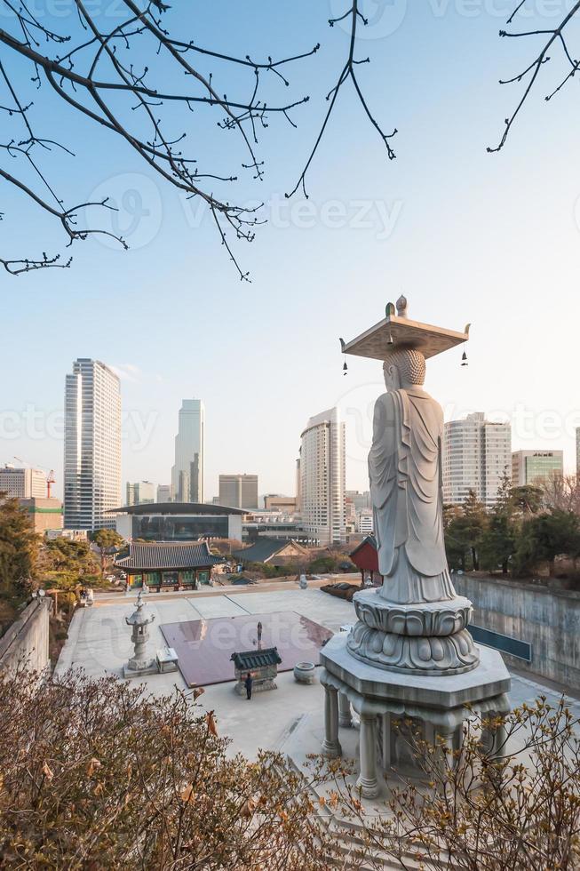 bongeunsa-tempel, seoel, korea foto