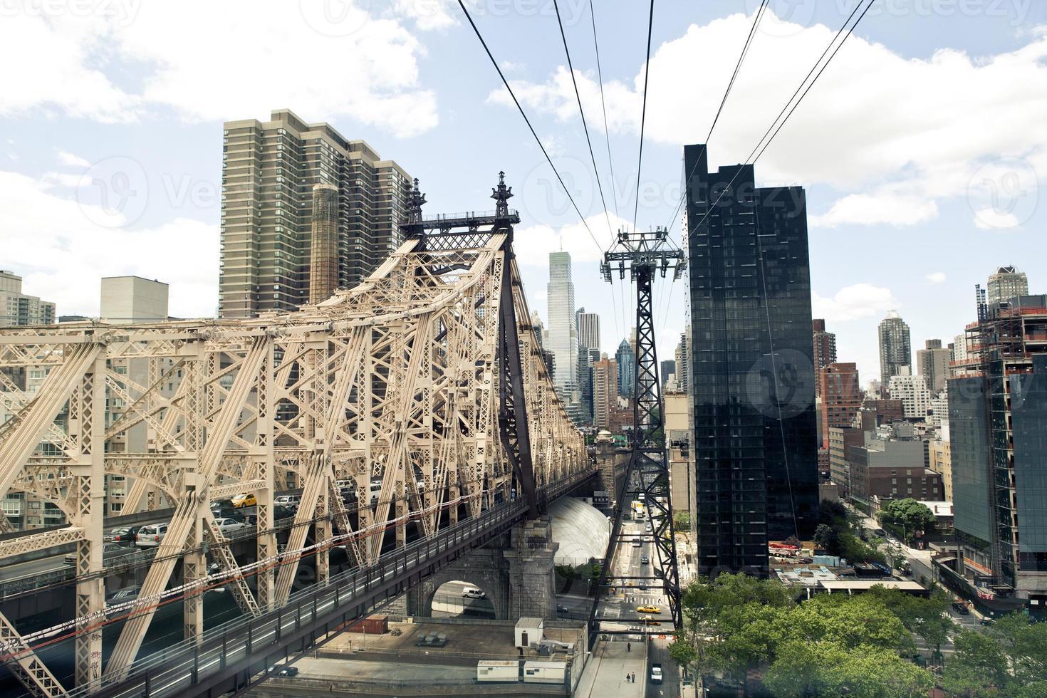 de tram van het roosevelteiland in New York. foto