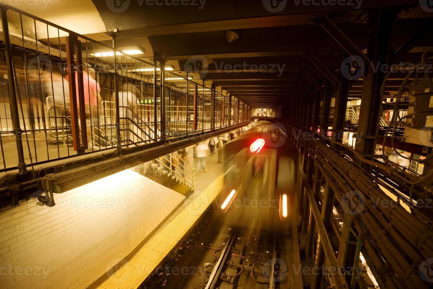 trainen in new york city foto