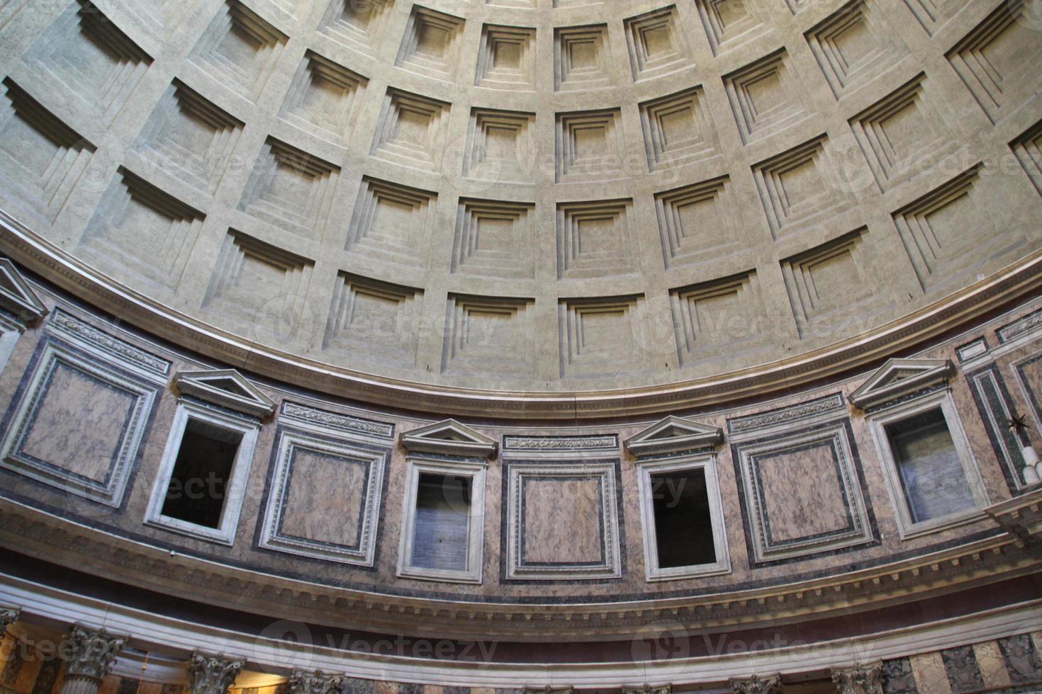 pantheon oculus in rome, Italië. foto