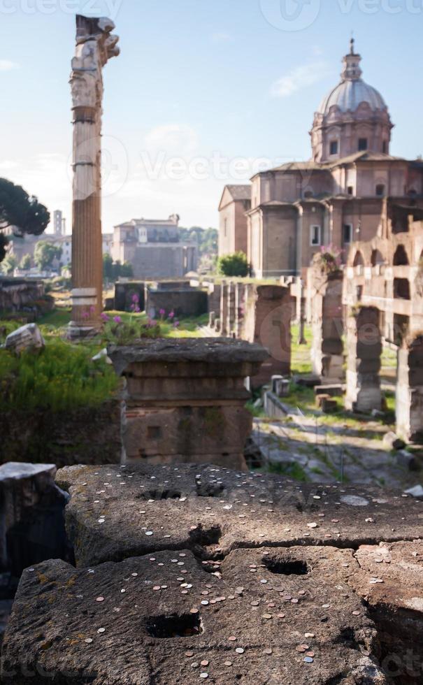 roman forum - rome, italië foto