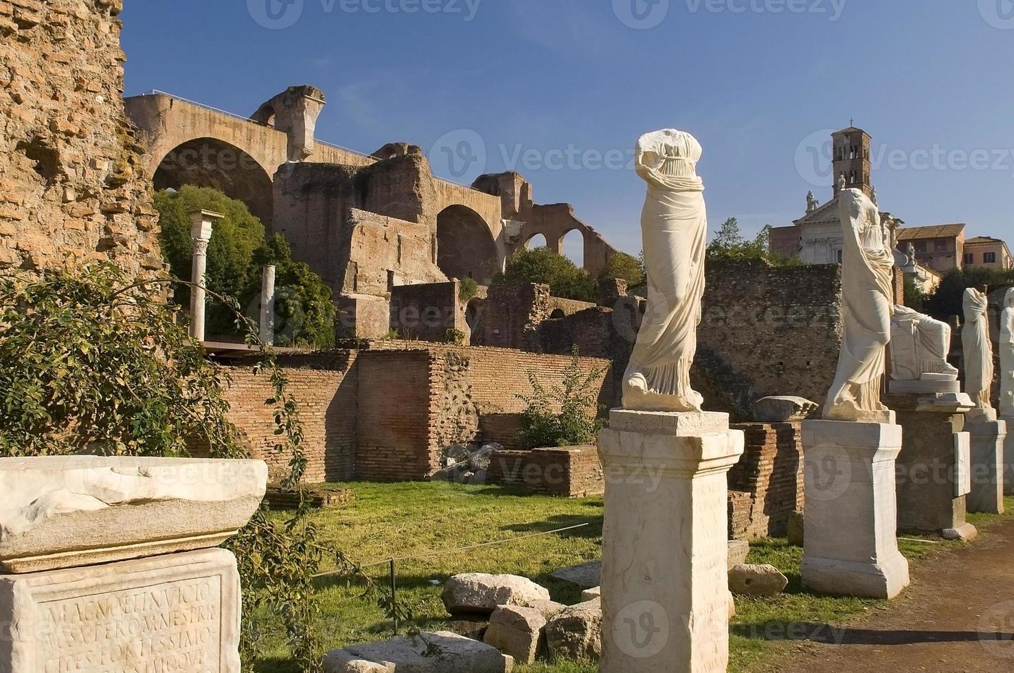 romano forum, rome foto