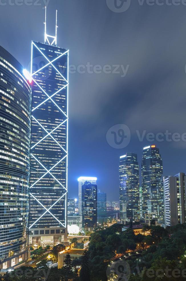 moderne kantoorgebouwen in hong kong foto