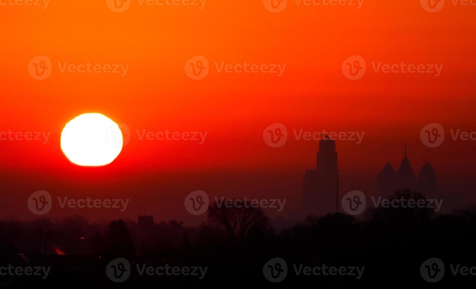 zonsopgang in Philadelphia foto