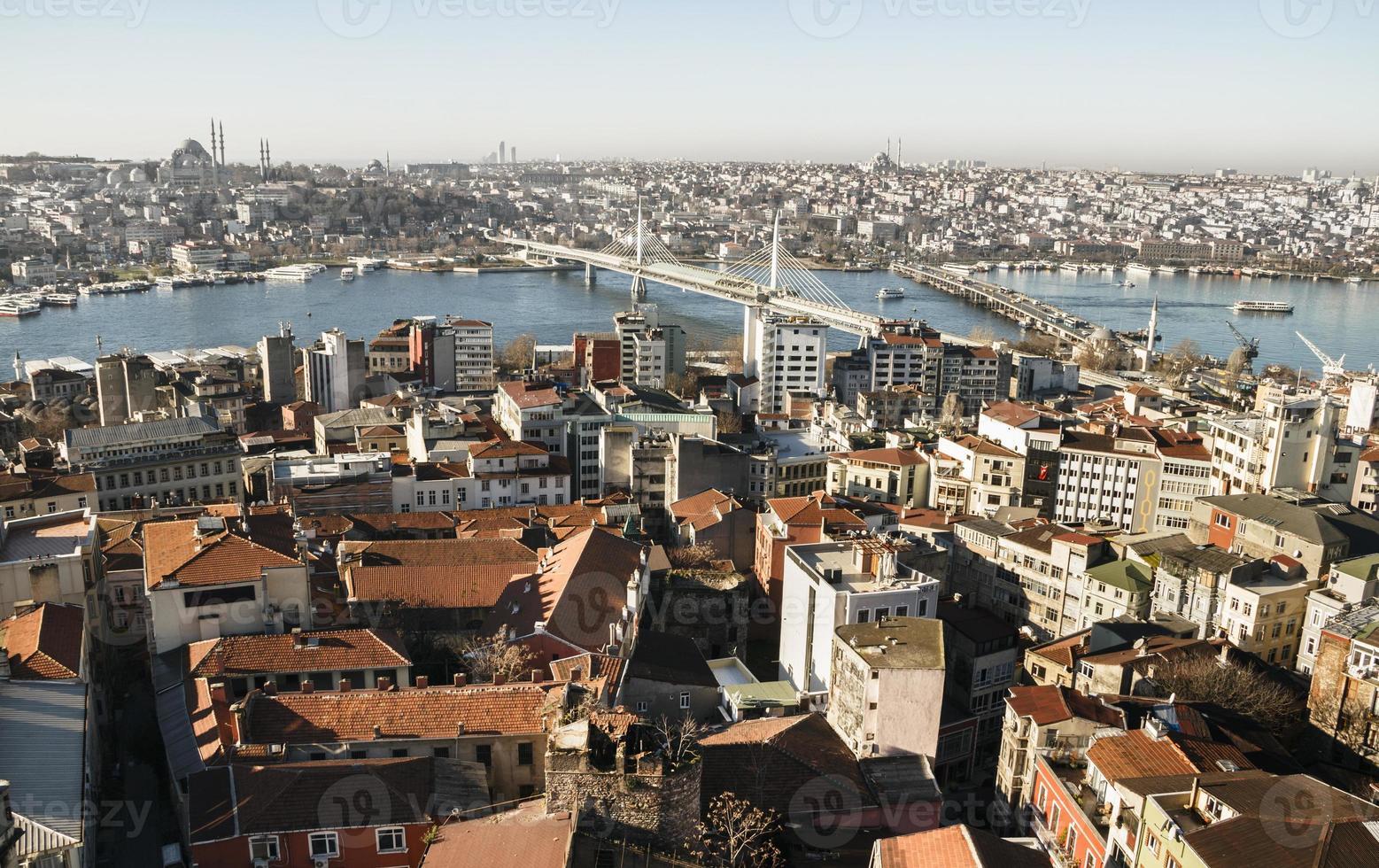 uitzicht op de stad. panorama van istanbul. foto