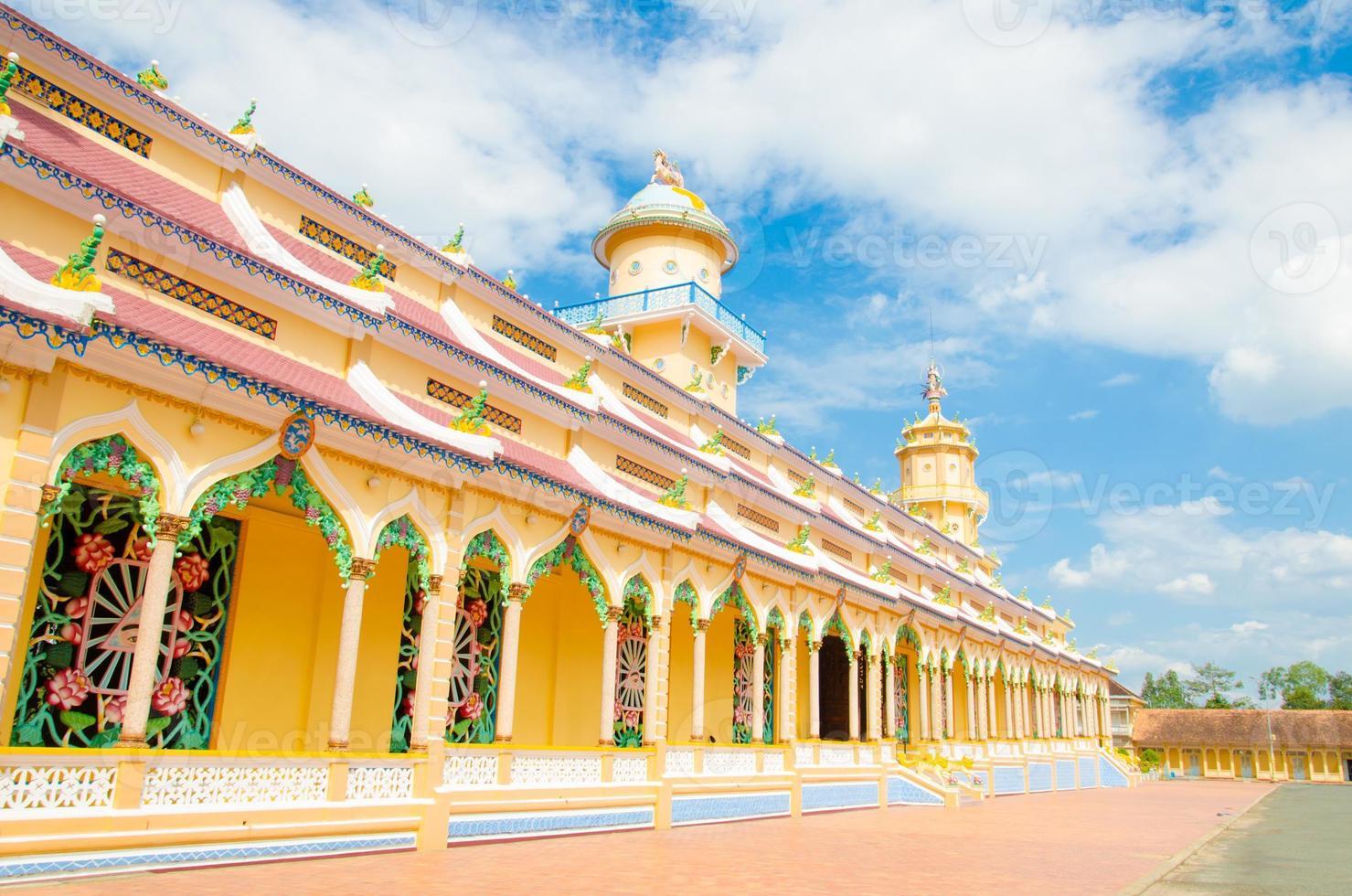 cao dai tempel in de provincie tay ninh foto