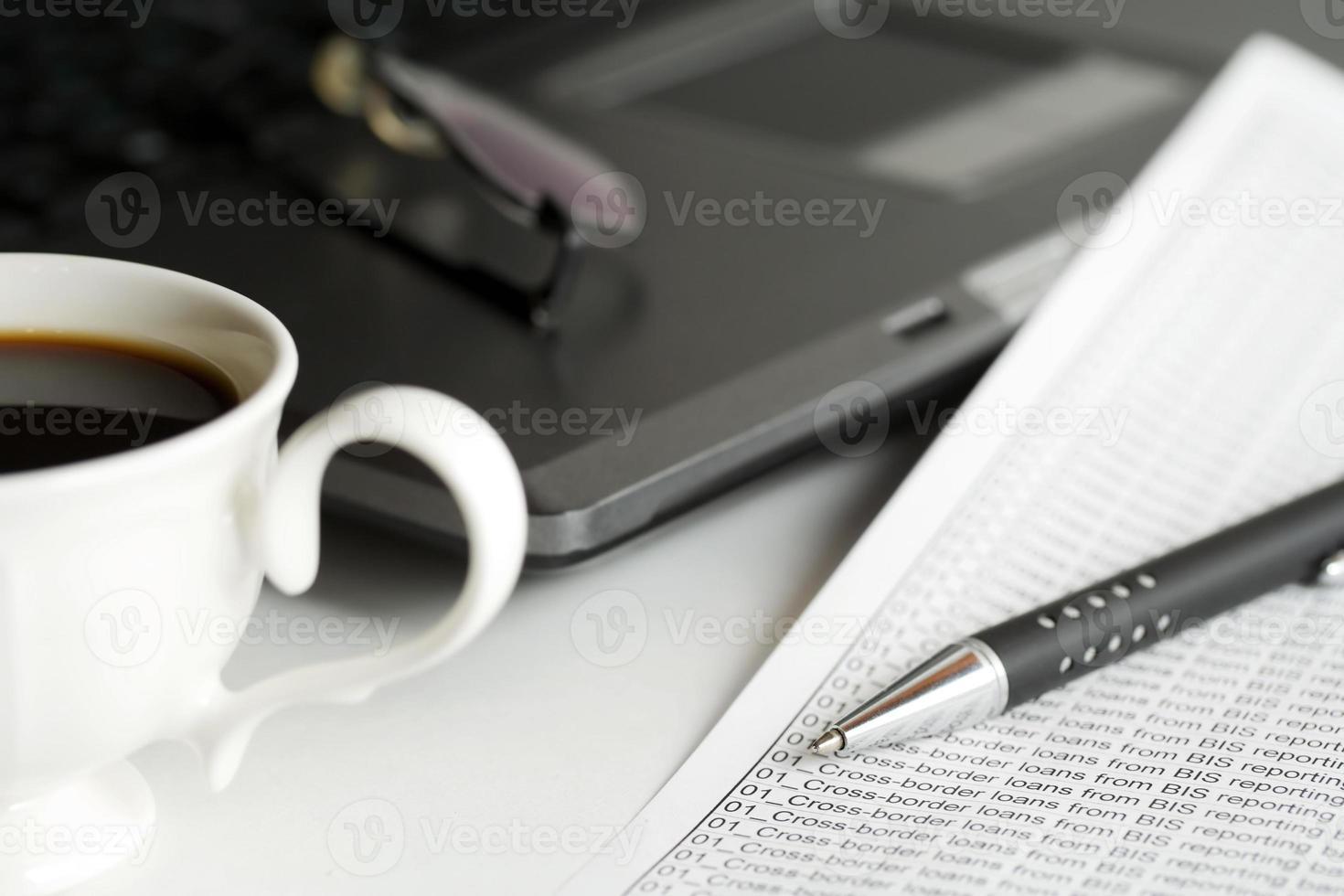 koffie en boekhouding foto