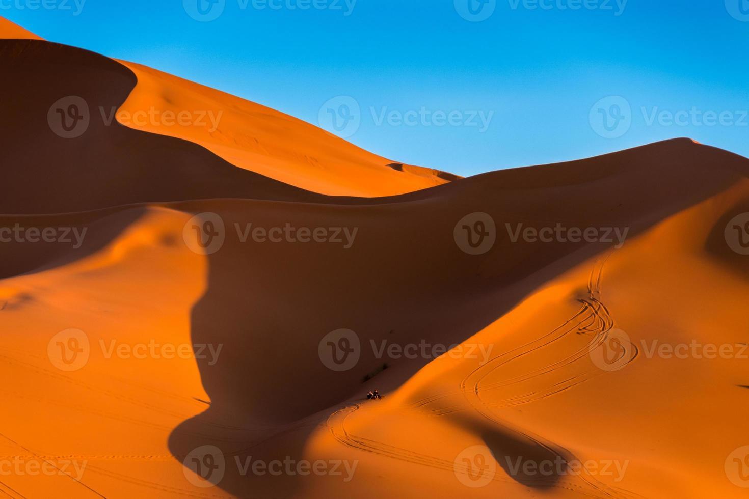 de hoge duinen van erg chebbi, marokko foto