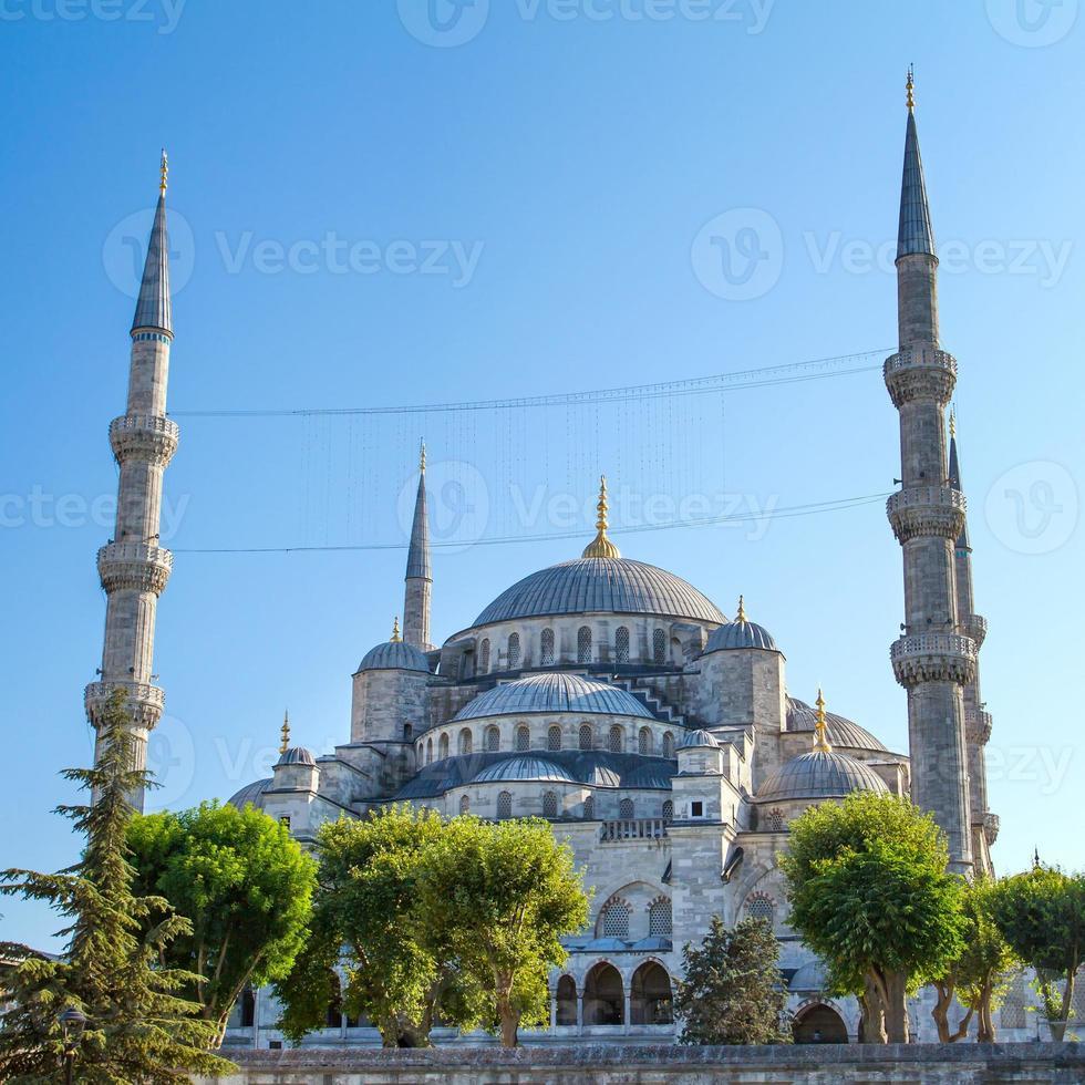 de blauwe moskee (sultanahmet camii), istanbul, turkije foto