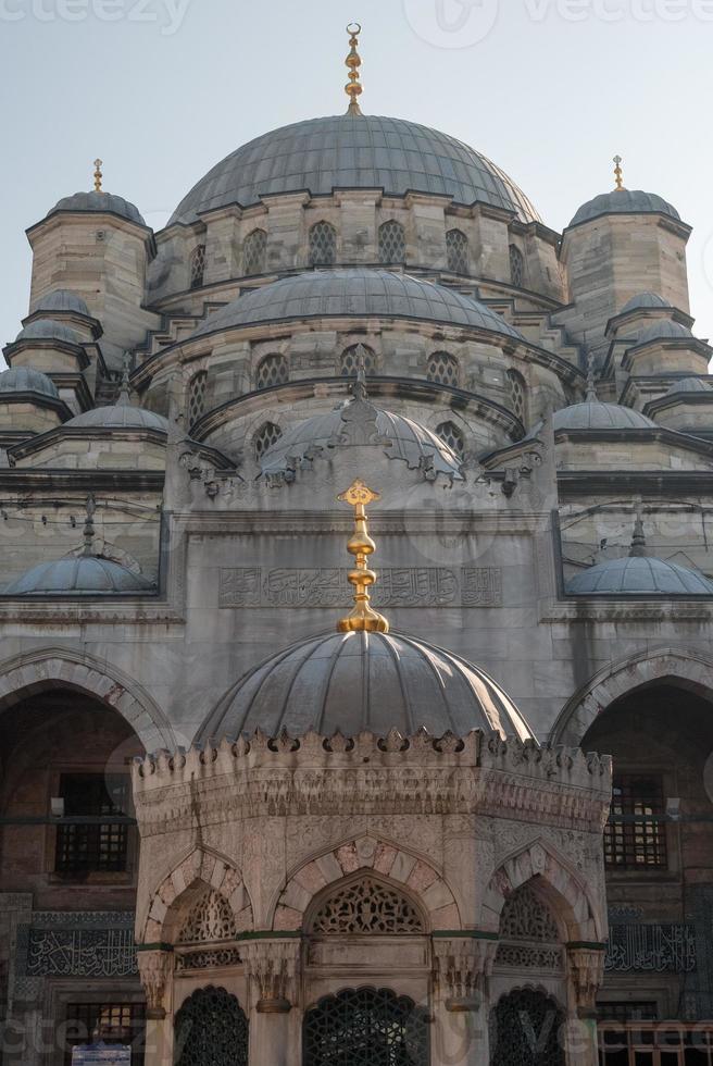 detail van de mug yeni cami in istanbul foto