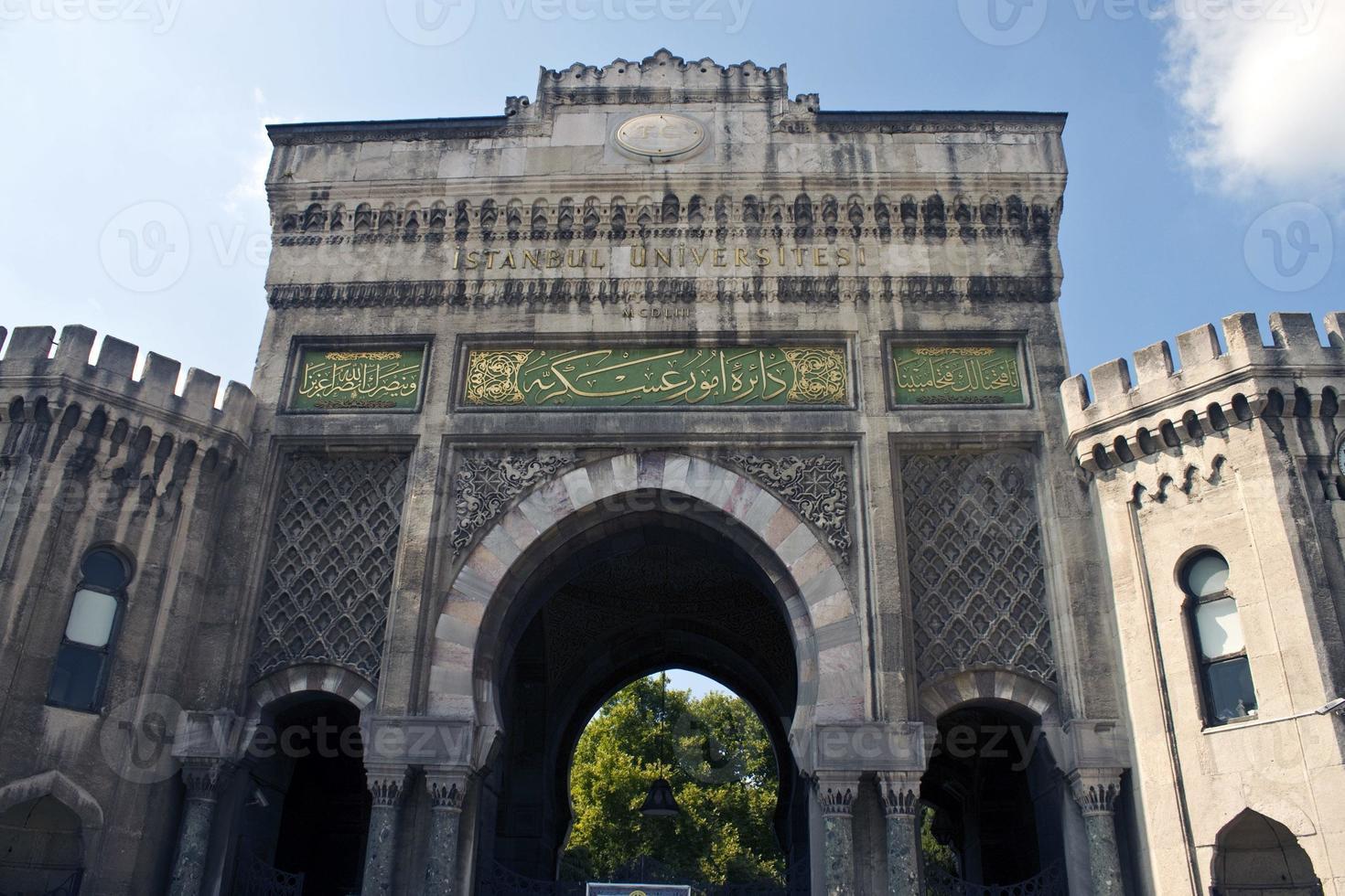 hoofdingang van istanbul univesity foto