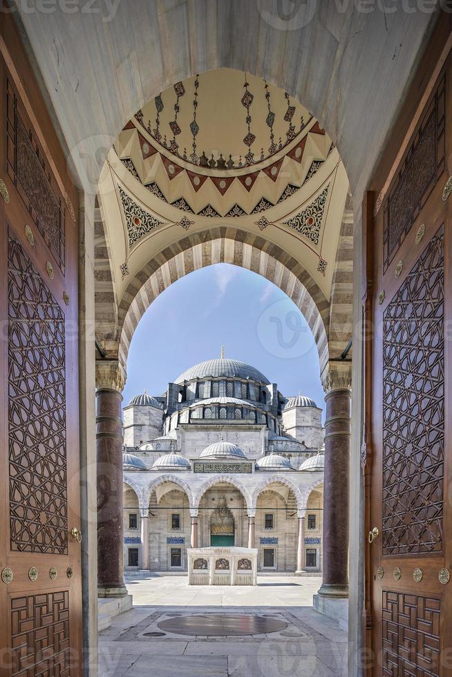 de suleymaniye-moskee, istanbul, turkije foto