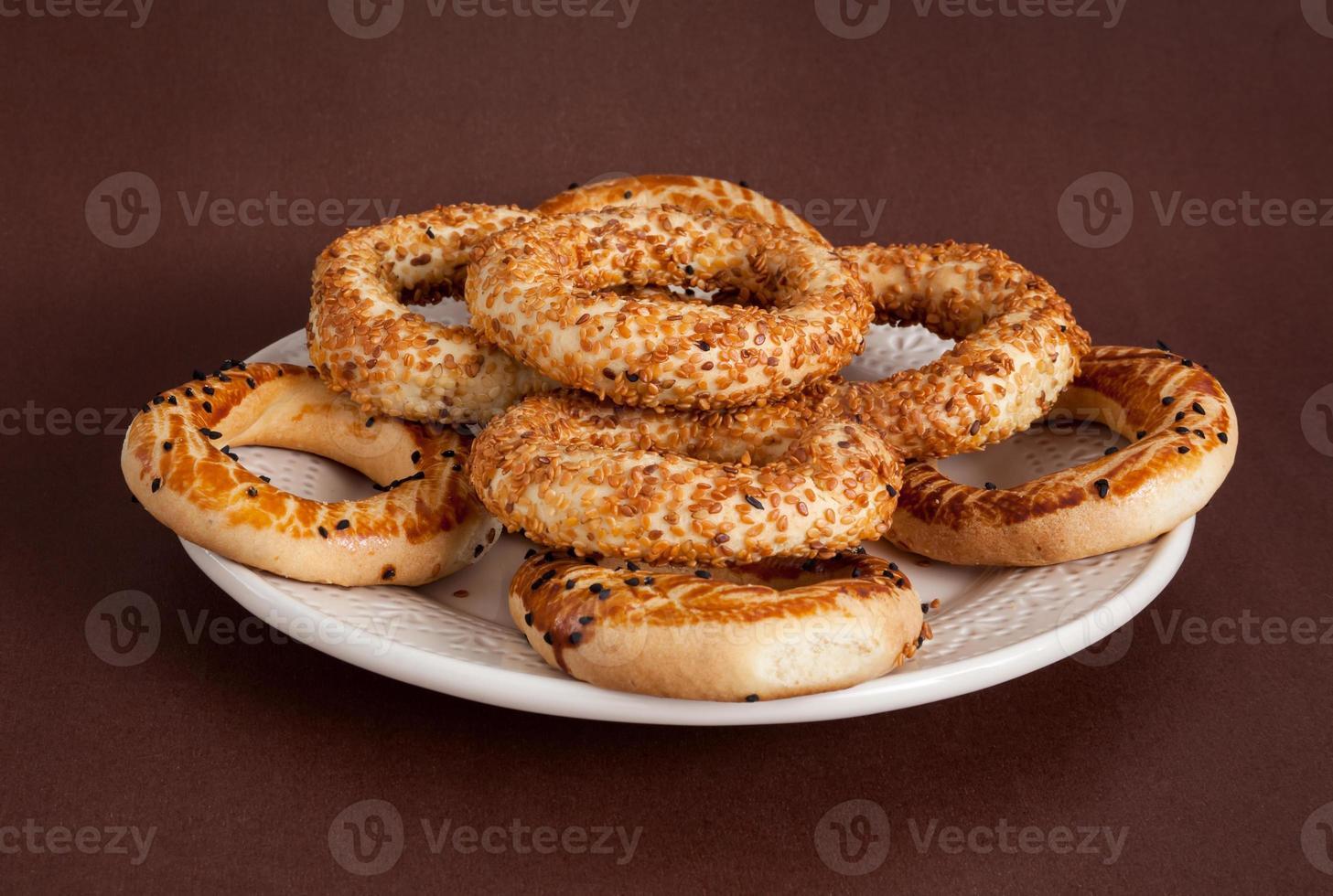 Turkse bagel, (kandil simiti) foto