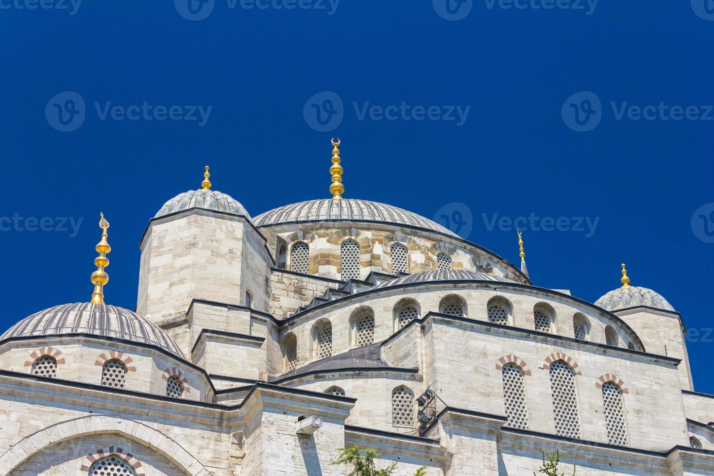 blauwe moskeekoepels foto