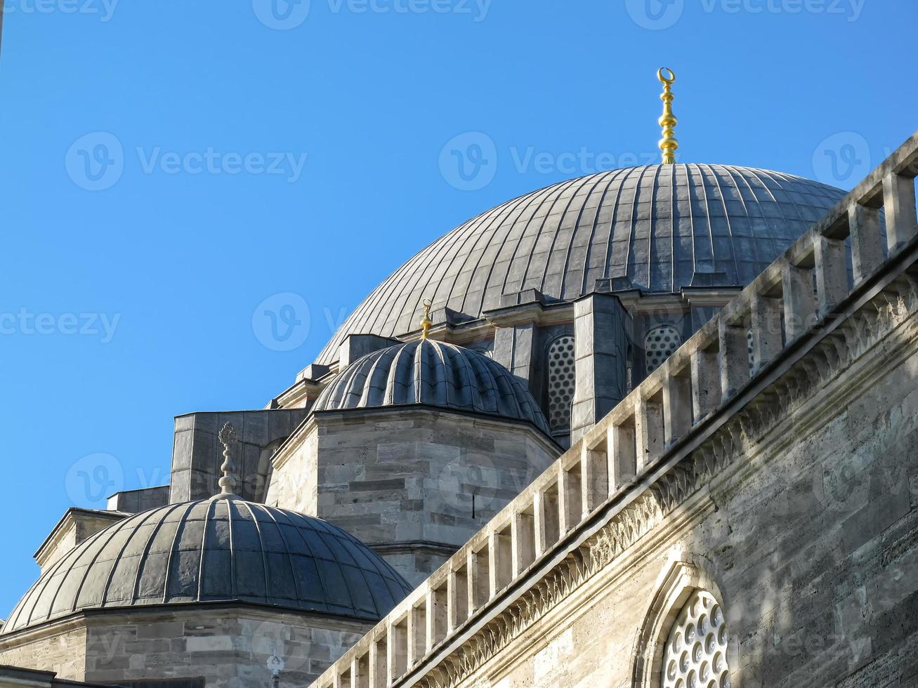 details van de architectuur van de süleymaniye-moskee, istanbul foto