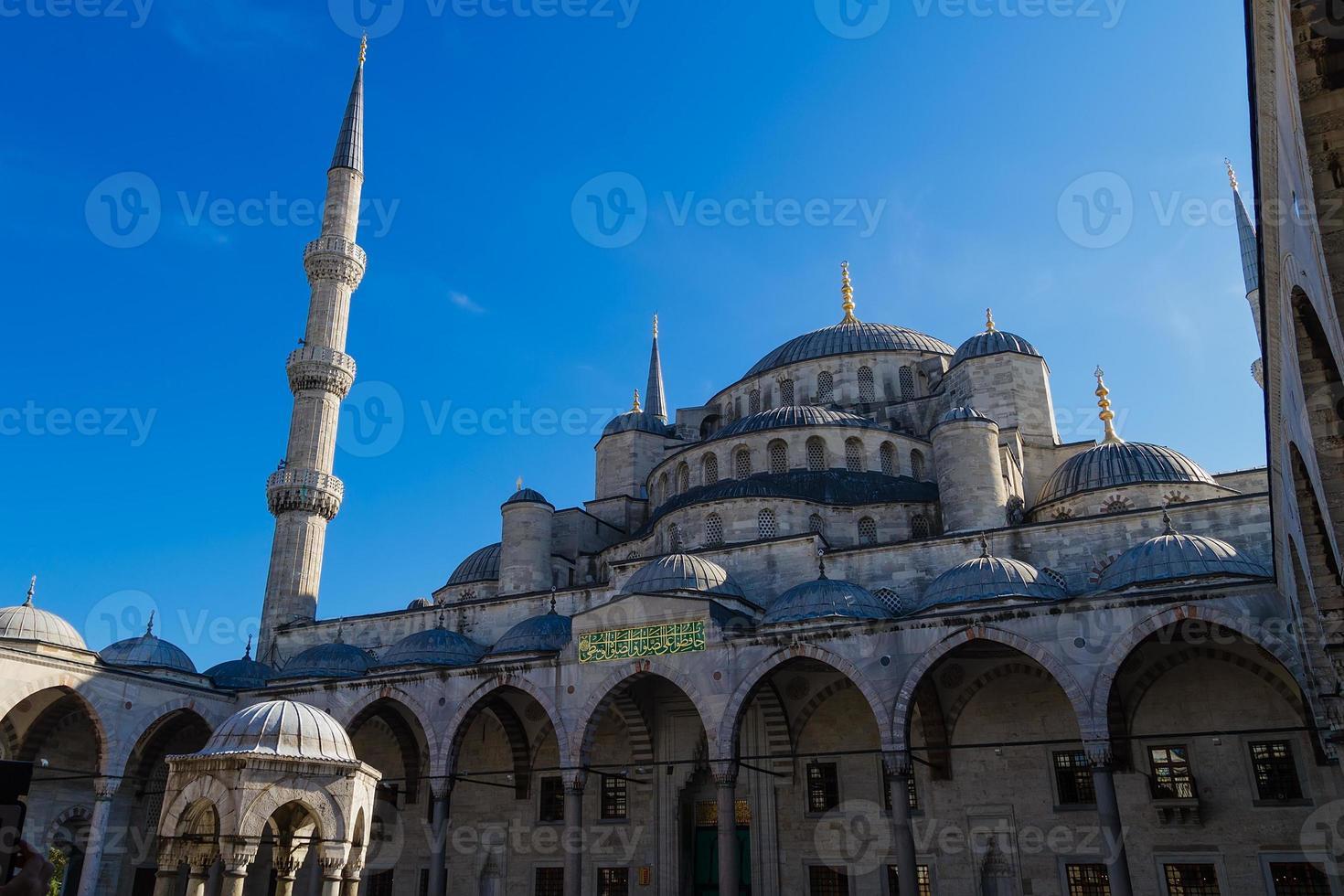 sultan ahmed moskee, istanbul turkije foto