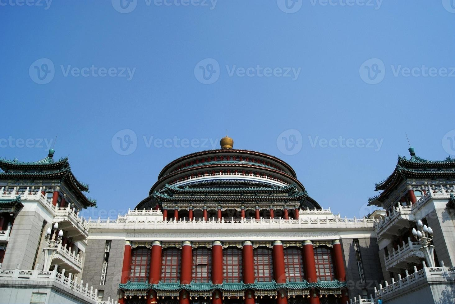 grote zaal van mensen, chongqing, china foto