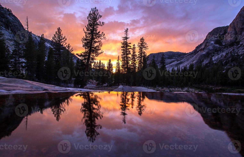 zonsondergang reflectie foto