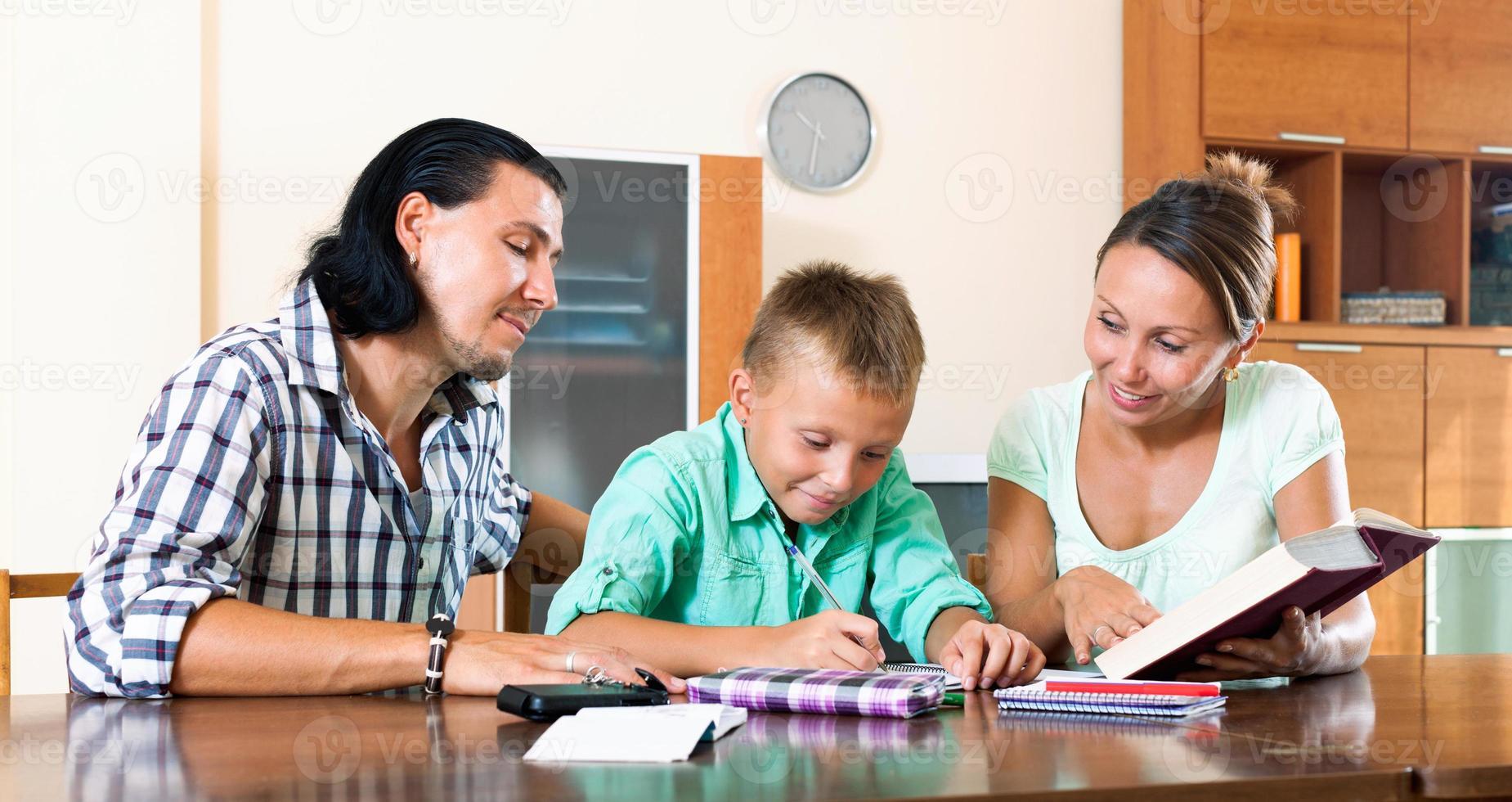 familie huiswerk foto