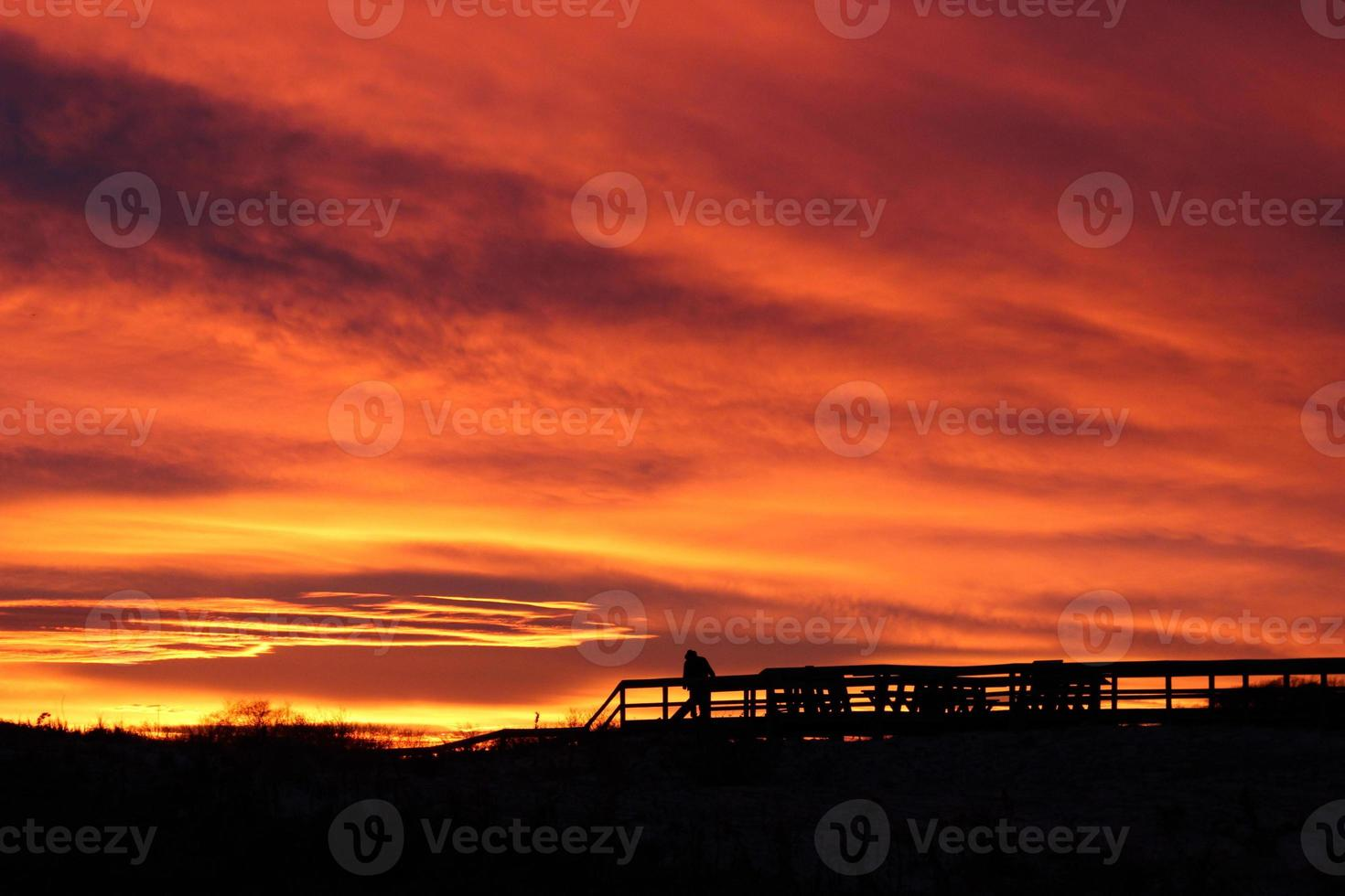 strand zonsondergang foto