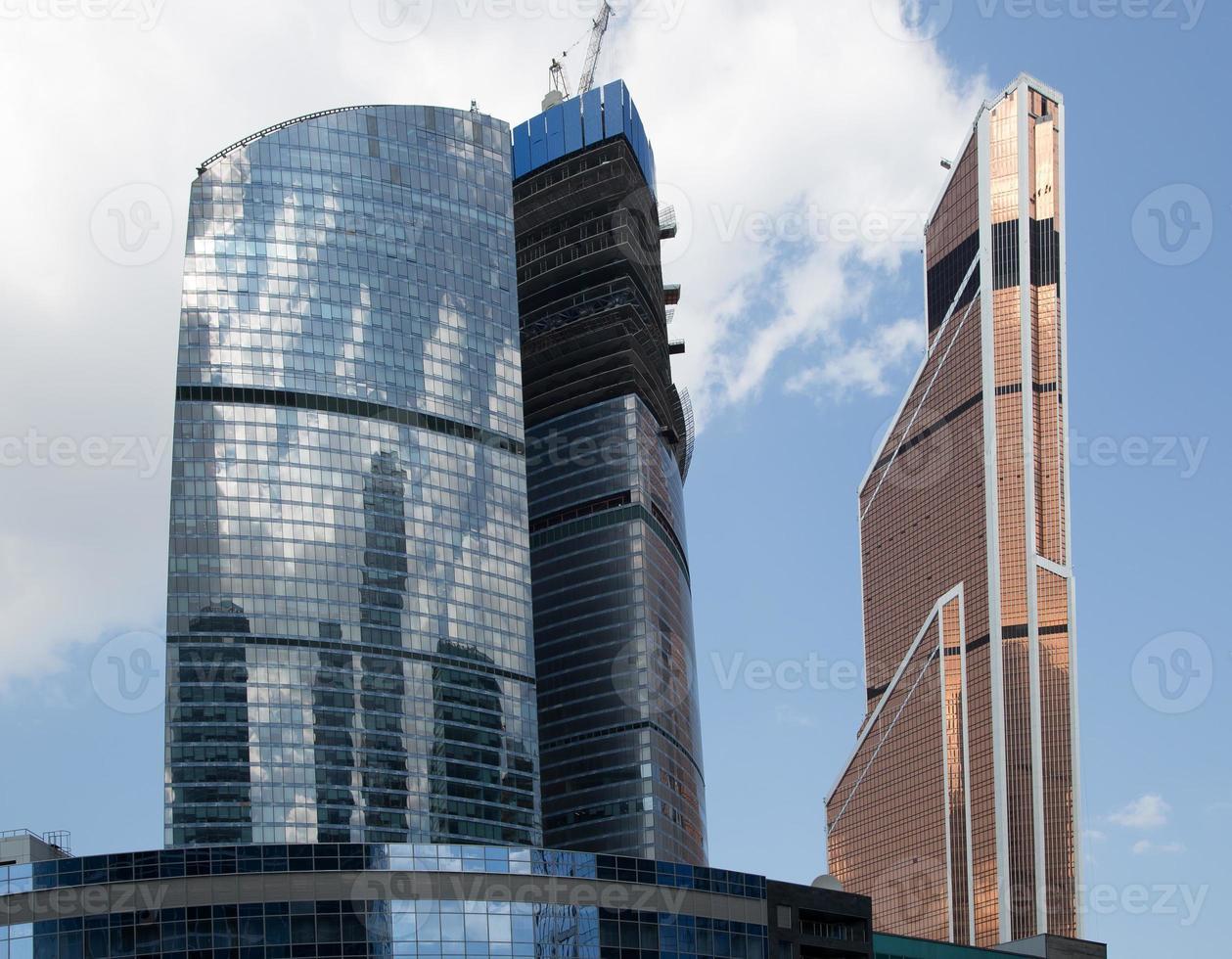 wolkenkrabbers van het internationale zakencentrum (stad), Moskou, Rusland foto