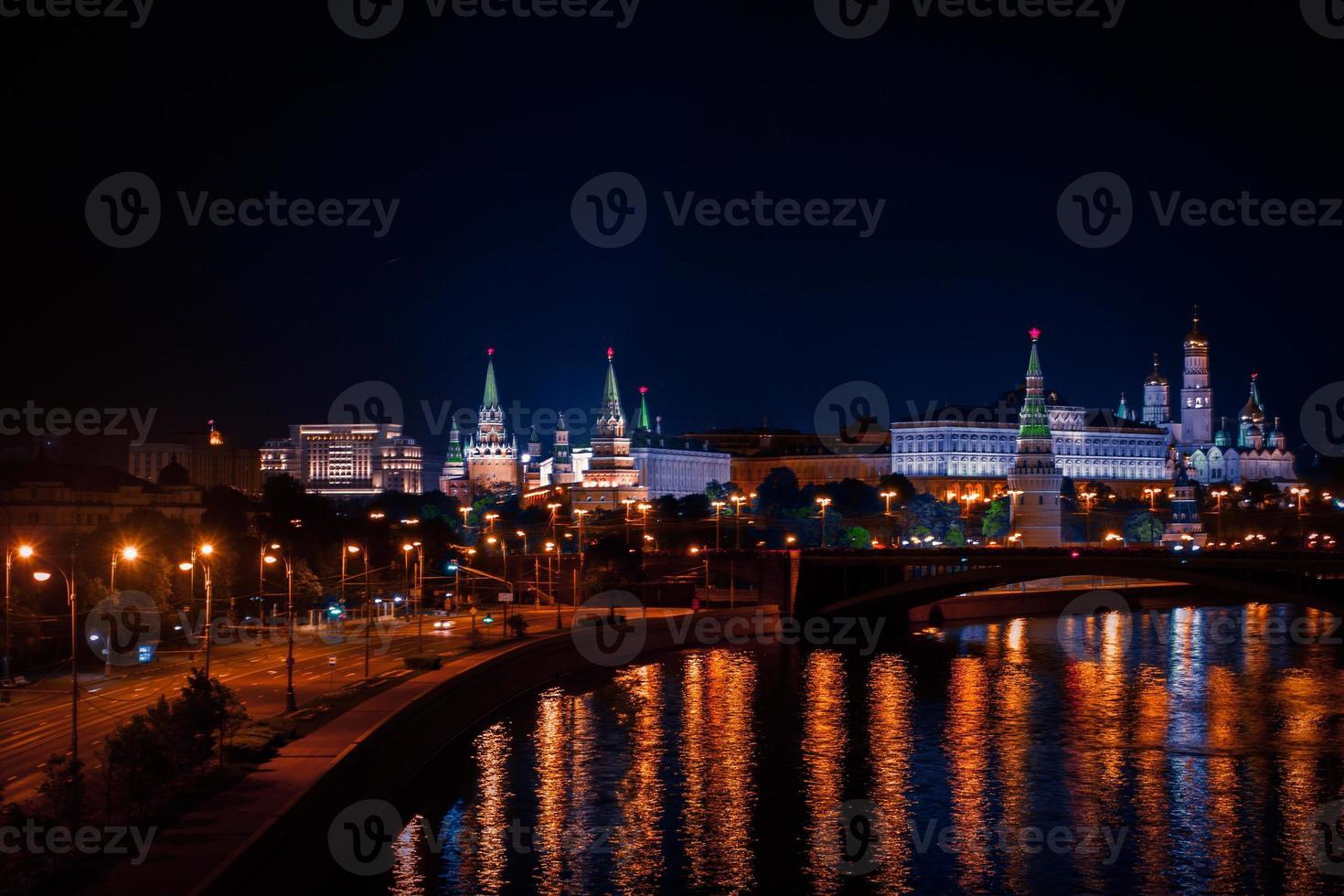 nacht Moskou foto